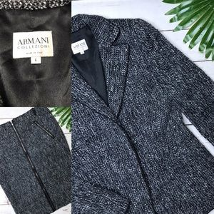 {Armani Collezioni} sz 6 tweed sparkle skirt suit